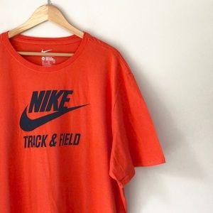 Nike Orange Track & Field Short Sleeve Tee